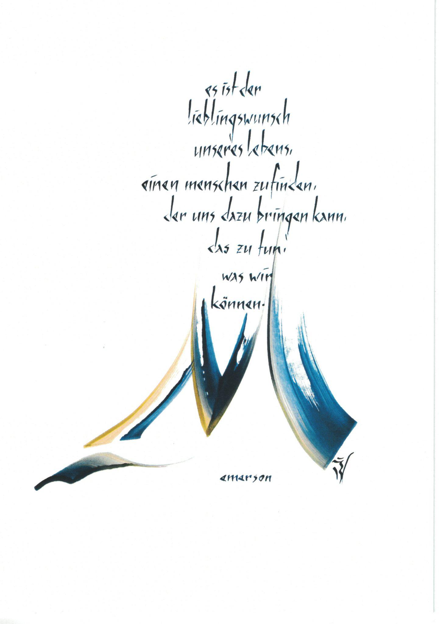 Karte 7 Ralph Waldo Emerson - Es ist der Lieblingswunsch