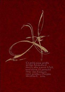 Schriftkunst - Rilke_Es geht...